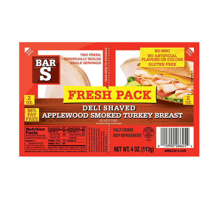 Fresh Pack Applewood Smoked Turkey Breast - Lunchmeat - Poultry