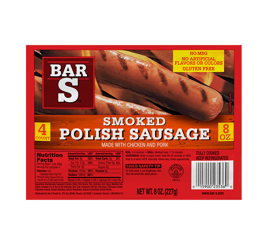 Smoked, Hot Link and Looped Sausage