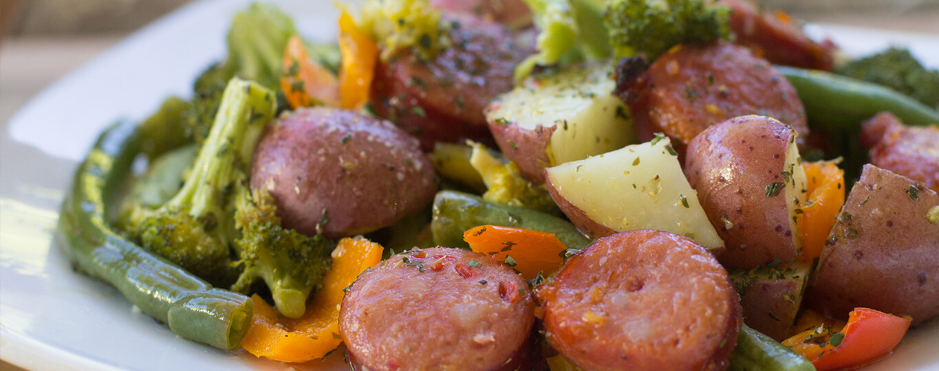 Fast and Easy One Pan Sausage and Veggie Dinner Recipe