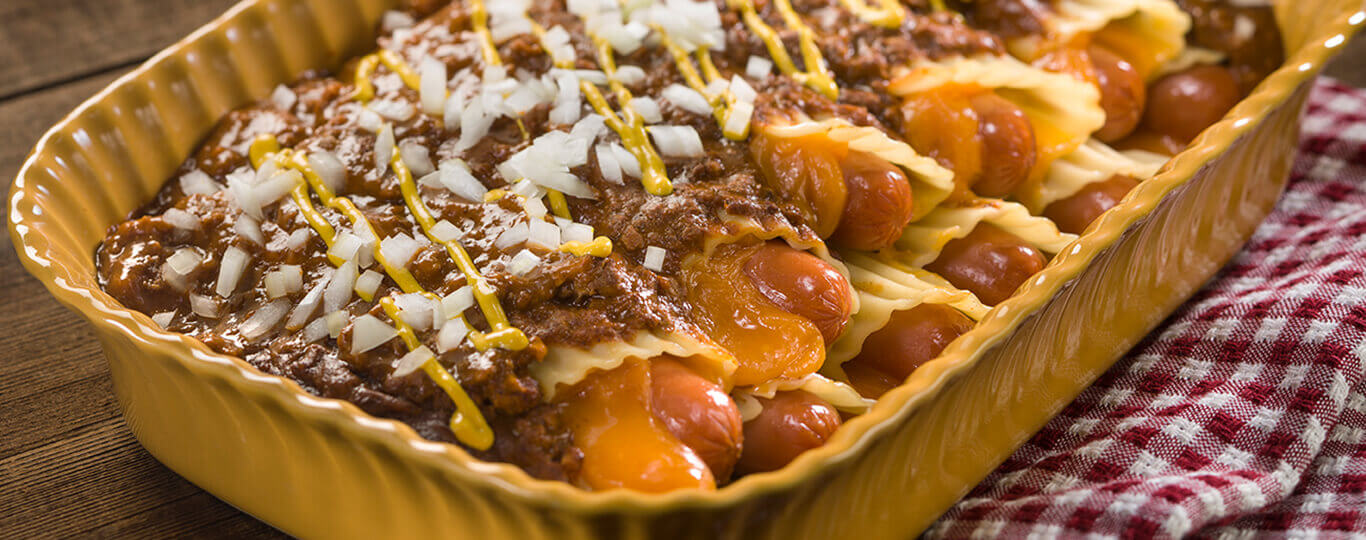 Chili-Cheese Dog Manicotti