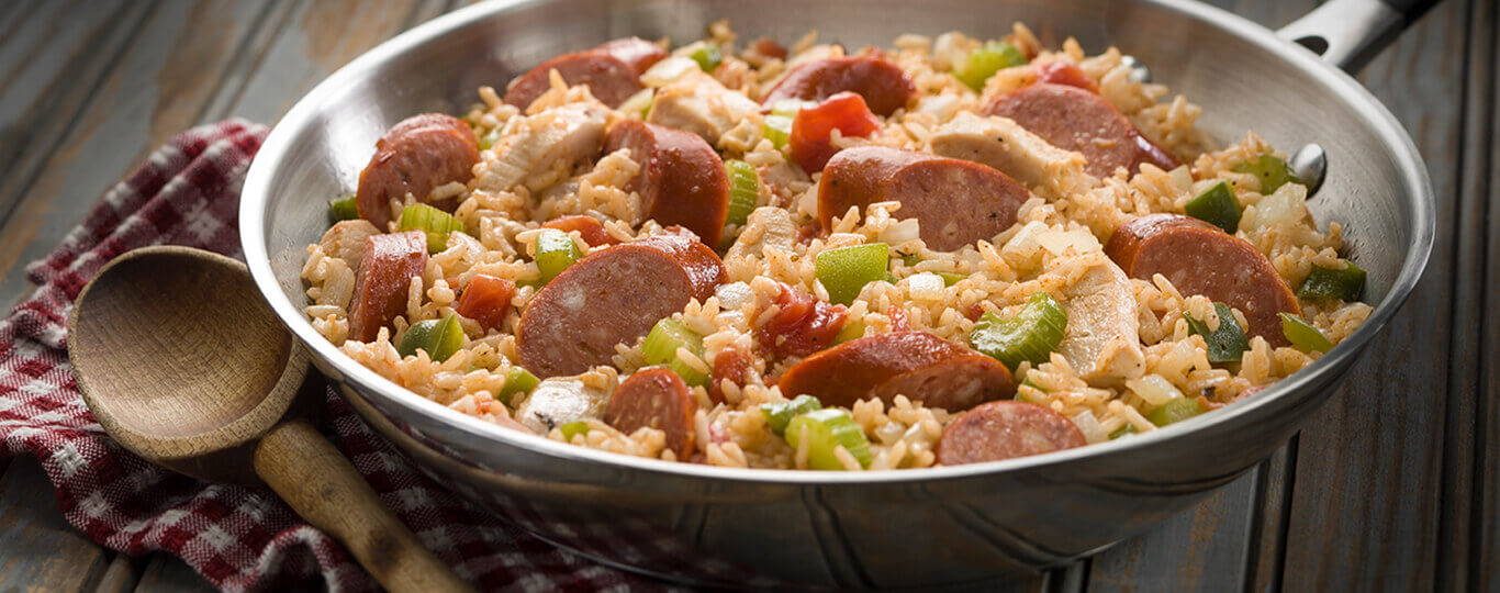 Easy Chicken & Hot Links Jambalaya