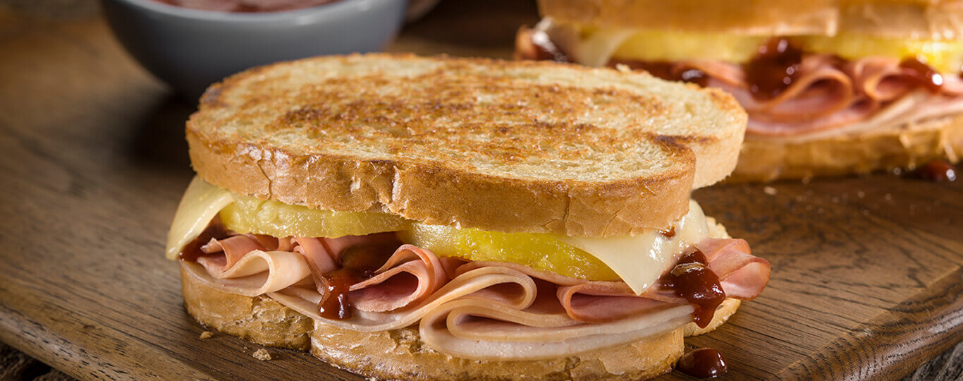 Grilled Hawaiian Ham Turkey And Cheese Sandwiches Bar S