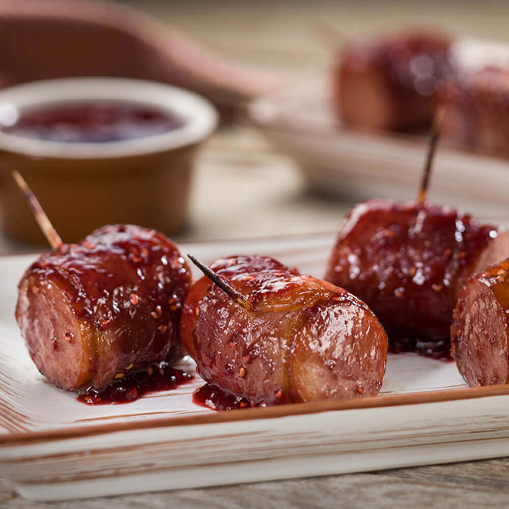 Bacon-Wrapped Kielbasa Bites Recipe