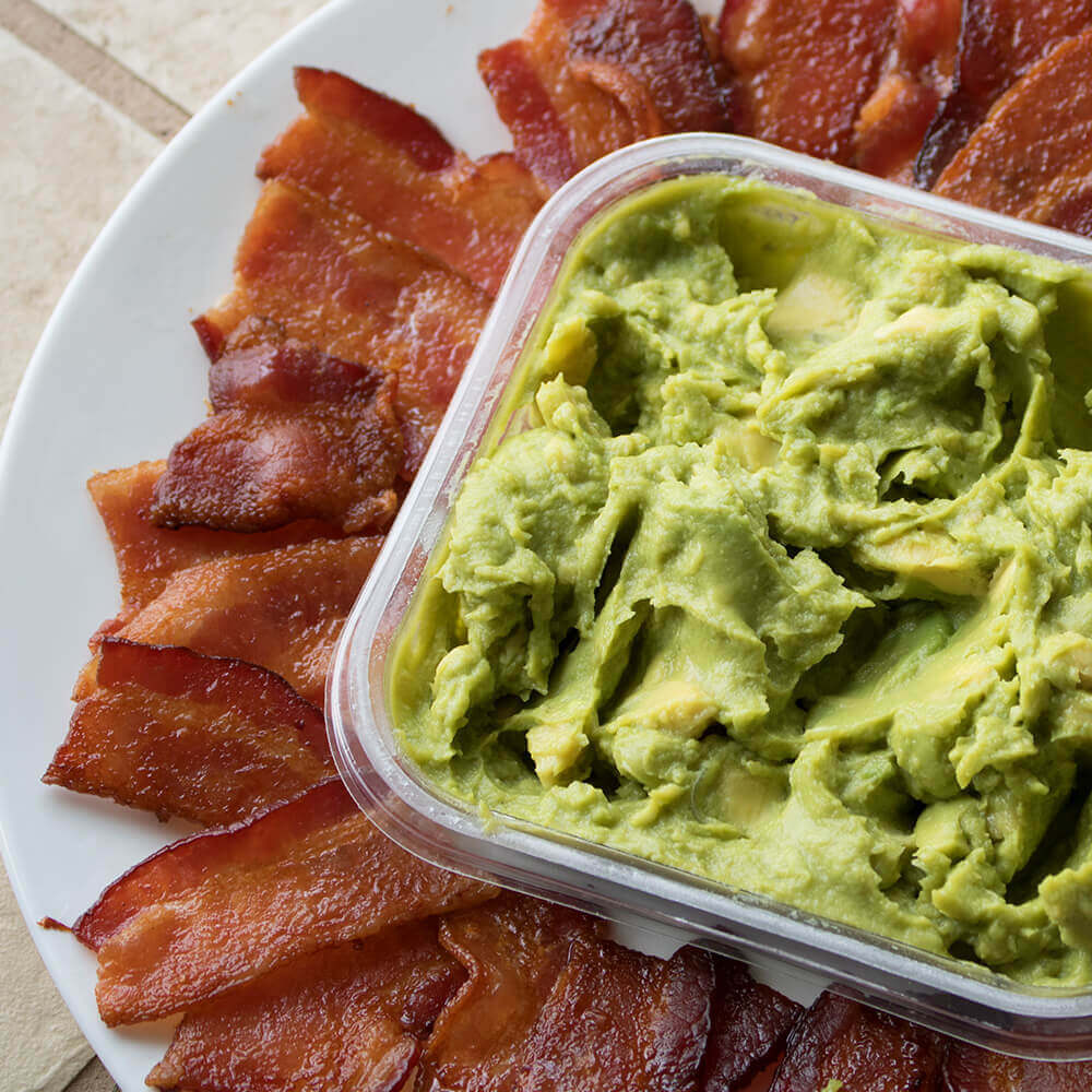 Bacon Chips and Guacamole