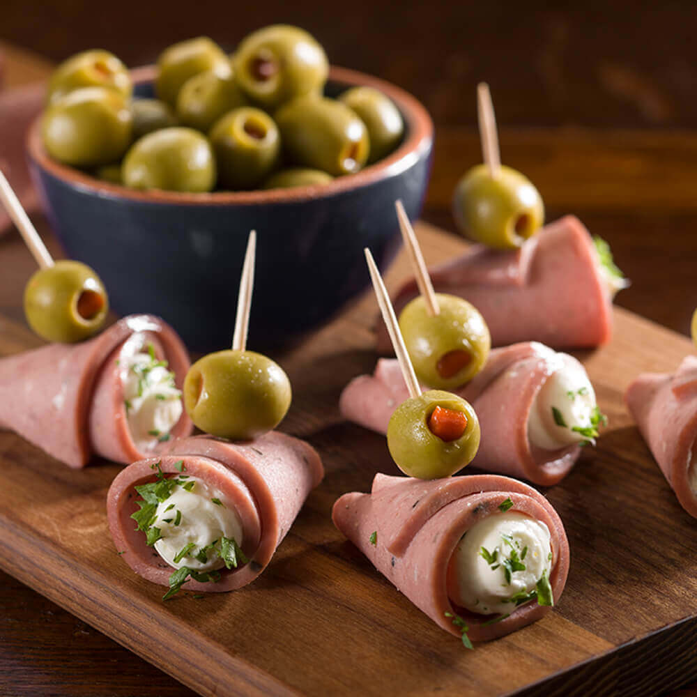 Cheese-Stuffed Salami Cones