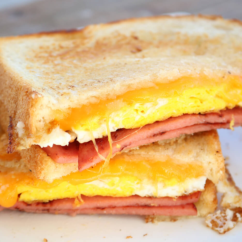 Fried Egg and Bologna Sandwich