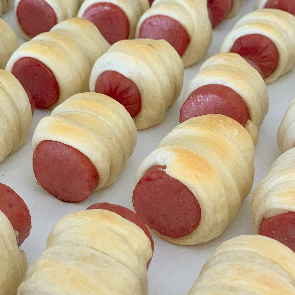 Holiday Smoked Sausage Pigs in a Blanket