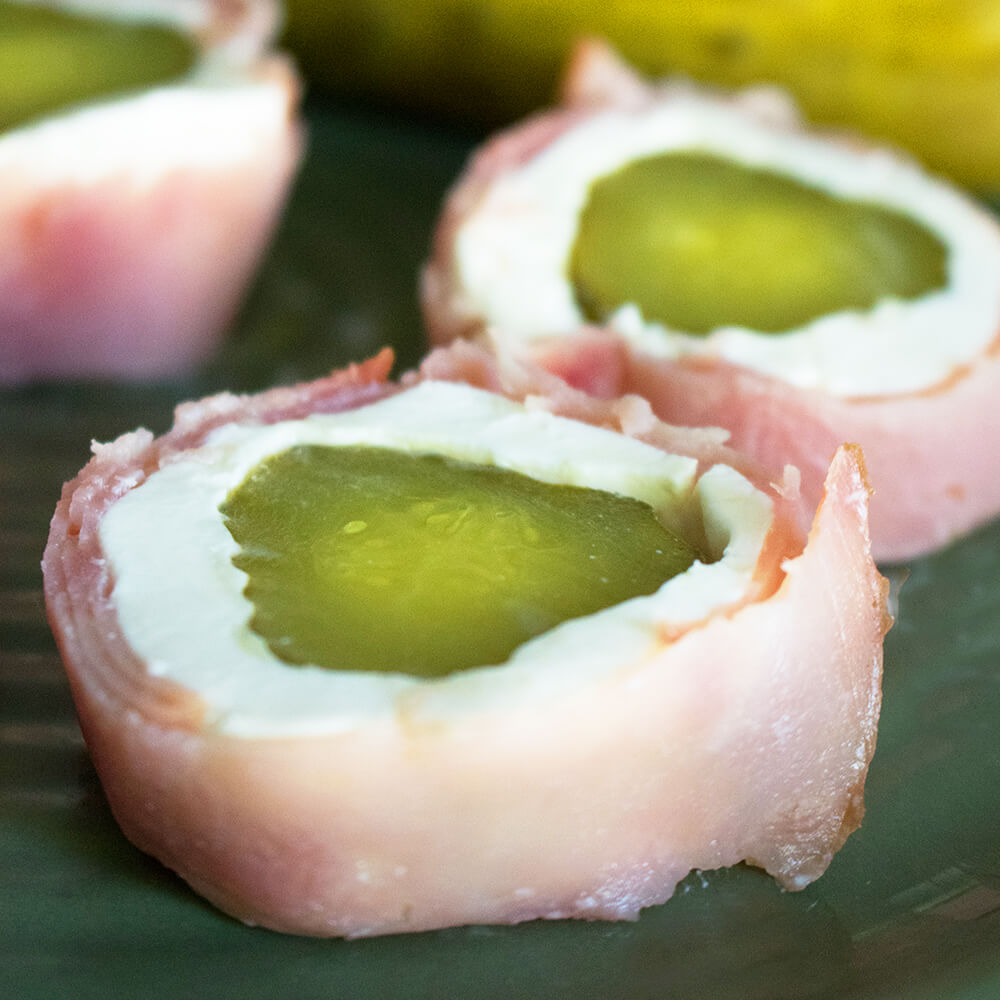 Pickle Ham Roll Ups