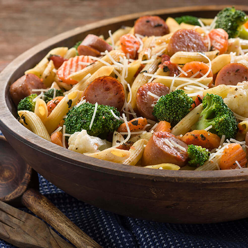 Simple Pasta, Sausage & Veggies