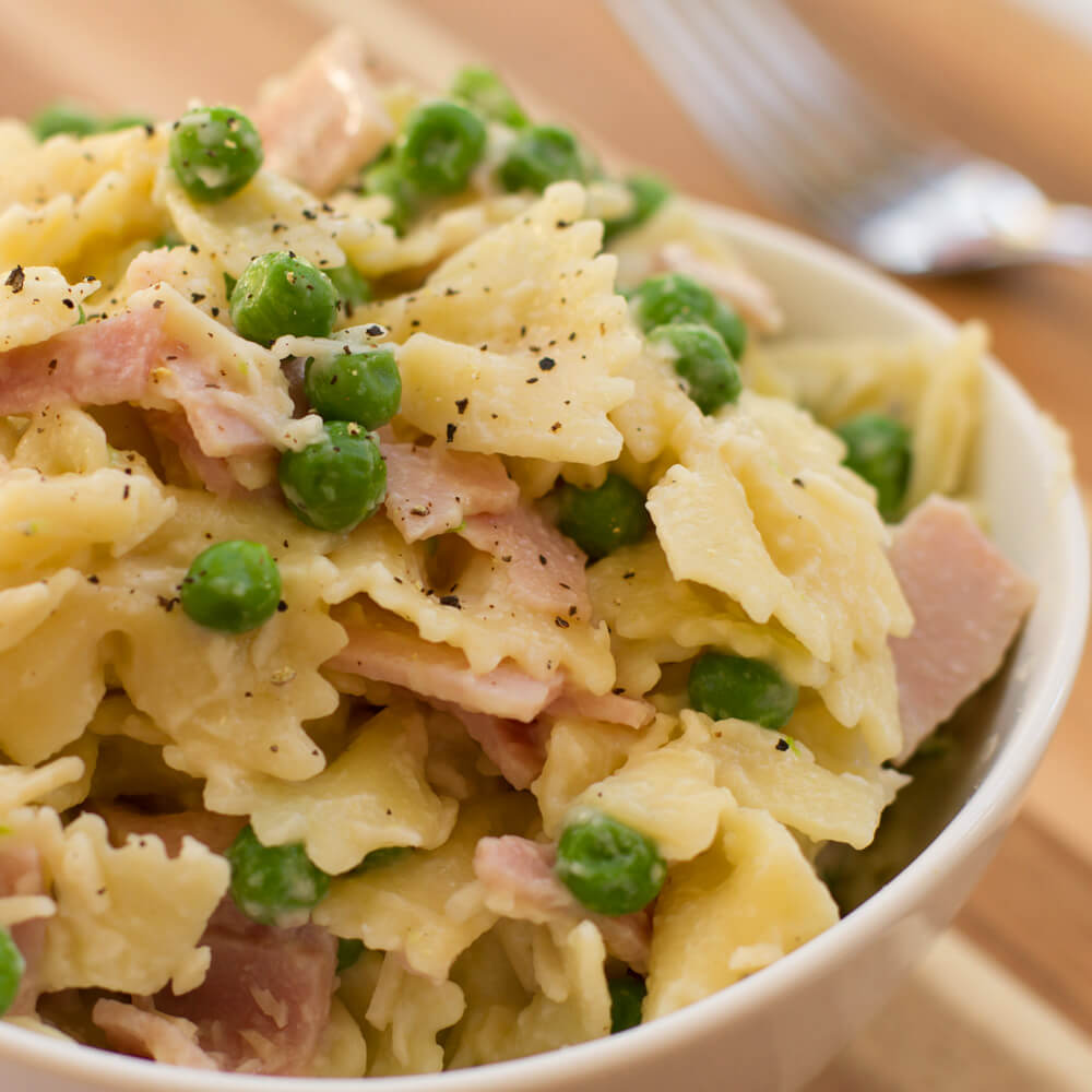 Ham and Peas Pasta